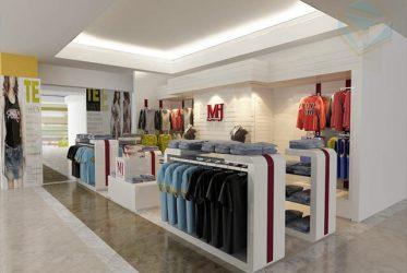 Kệ trưng bày cửa hàng thời trang quần áo Nam