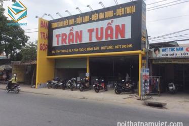 Thiết kế thi công kệ trưng bày siêu thị điện máy Trần Tuấn ở Bình Tân