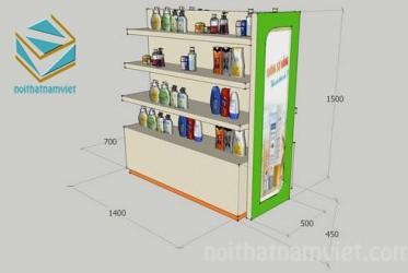 Kệ trưng bày siêu thị Megavita