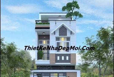 Mẫu thiết kế nhà phố mặt tiền 4,5m cho anh Chuẩn ở Thuận An Bình Dương