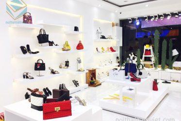 Thiết kế tủ kệ trưng bày túi xách giày dép