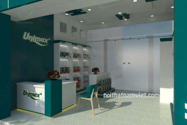 Kệ trưng bày cửa hàng sơn Unimax