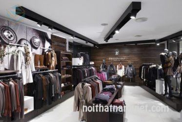 Thiết kế nội thất kệ trưng bày shop quần áo nam nữ