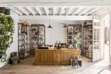 Mẫu thiết kế cửa hàng rượu vang sang trọng