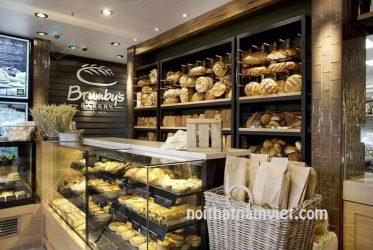 Mẫu thiết kế kệ trưng bày bánh mì, bánh ngọt