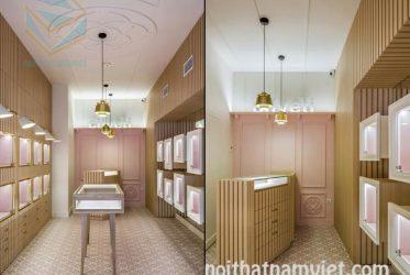 Thiết kế tủ kệ trưng bày cửa hàng trang sức vàng bạc giá rẻ